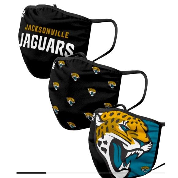 Jacksonville Jaguars 3 Face Masks NFL Licensed